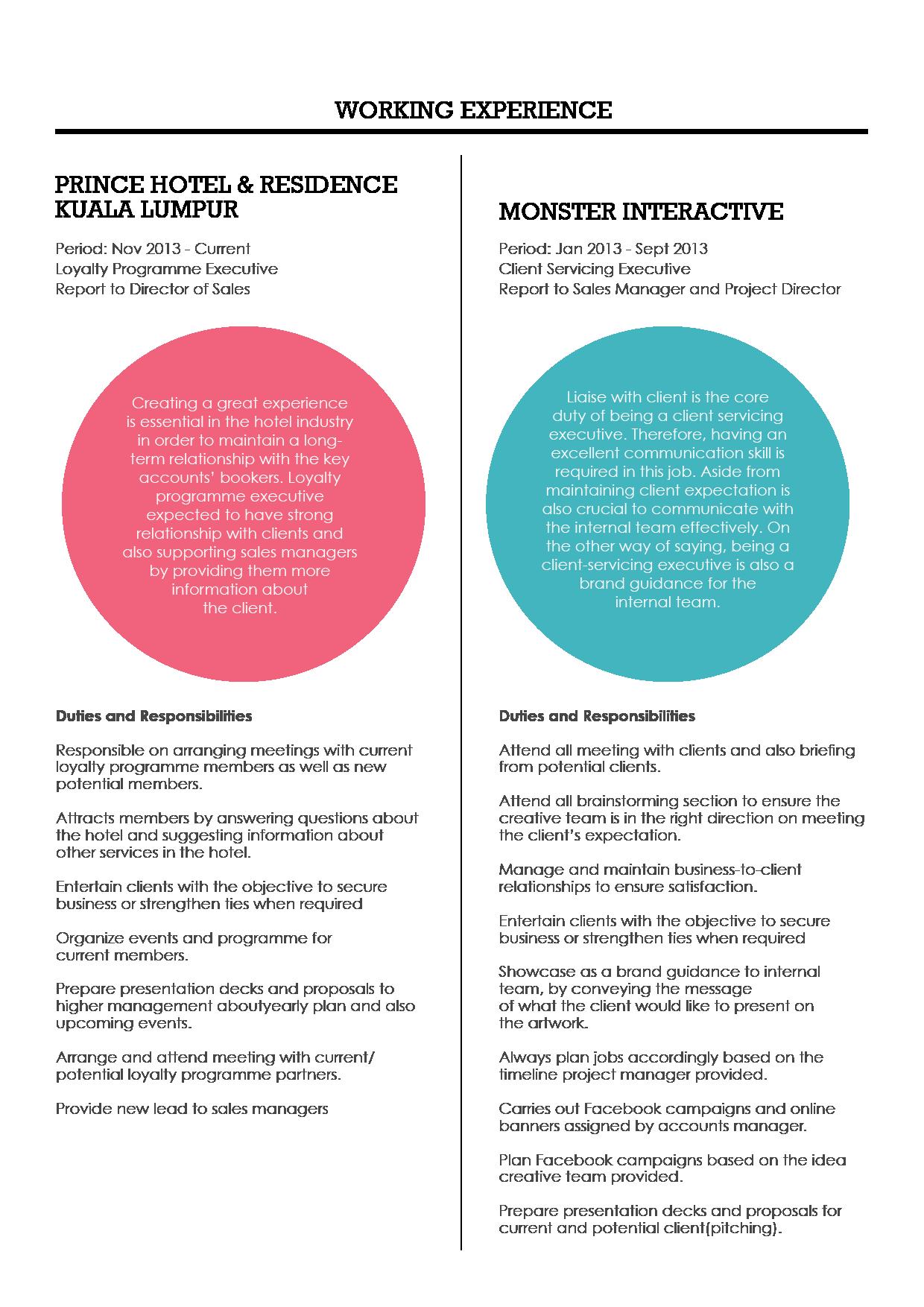official resume s resume zoe2